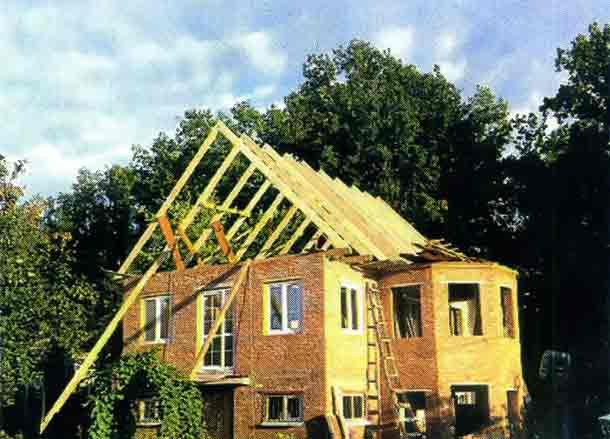 Каркас для новой крыши