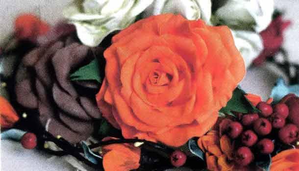 Роза как живая