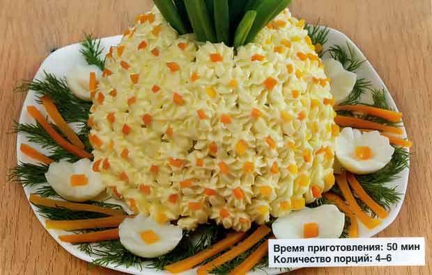 """""""Ананас"""" из картофеля и сельди"""