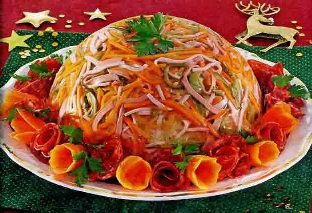 Салат «Новогодний Серпантин»