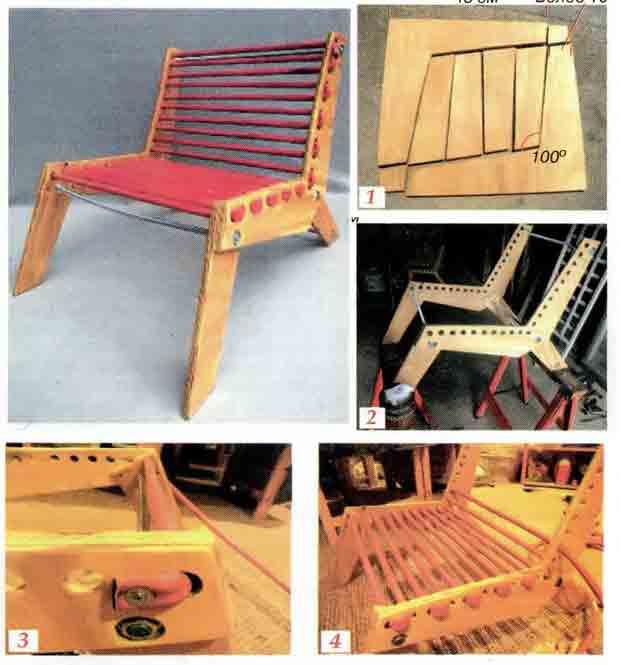 Зашнуровываем стул