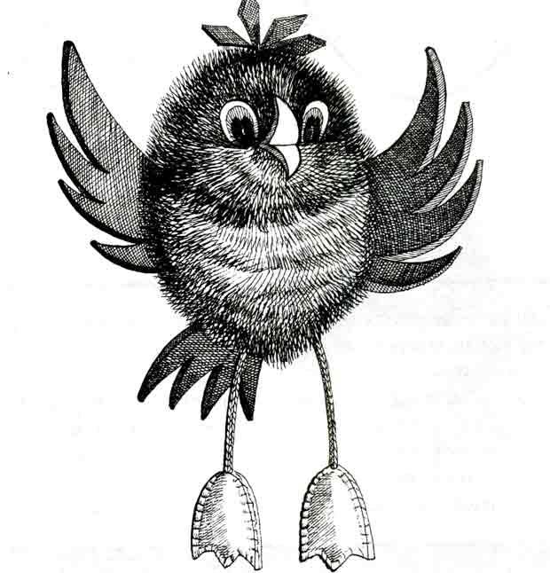 Птичка, мягкая игрушка