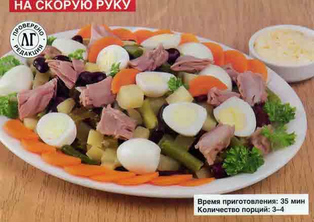 Салат с тунцом и яйцами