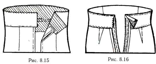 Обработка цельнокроенного пояса