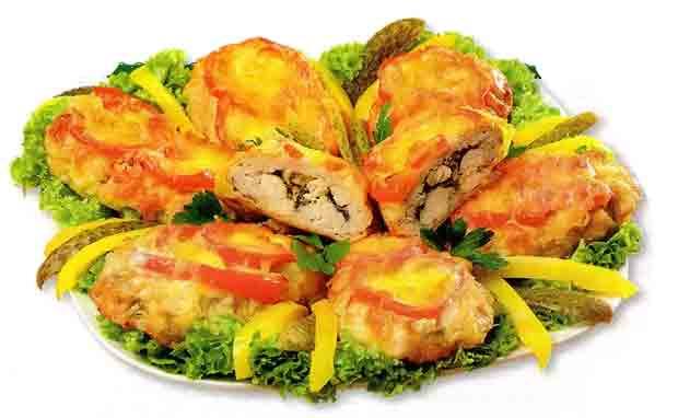 Котлеты «Аппетитные» с курицей и грибами