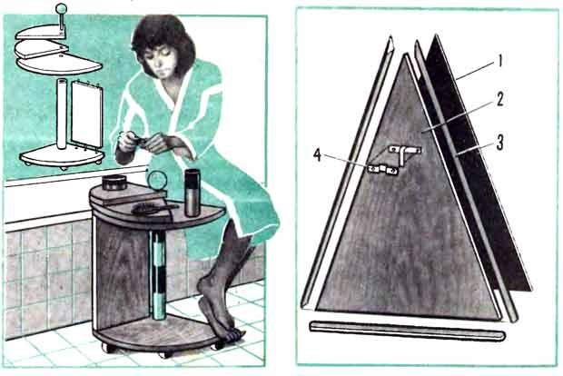 Необычный дизайн зеркала и столика