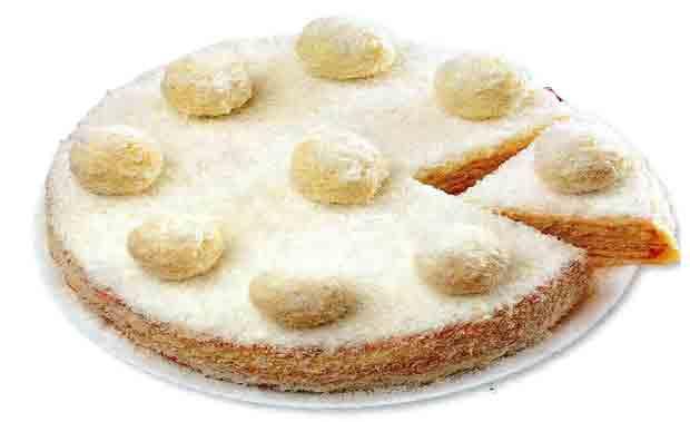 Торт «Рафаэлло» с конфетами