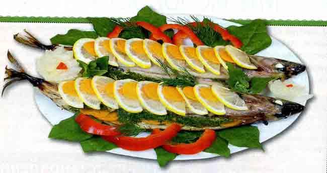 Рыба, фаршированная шпинатом