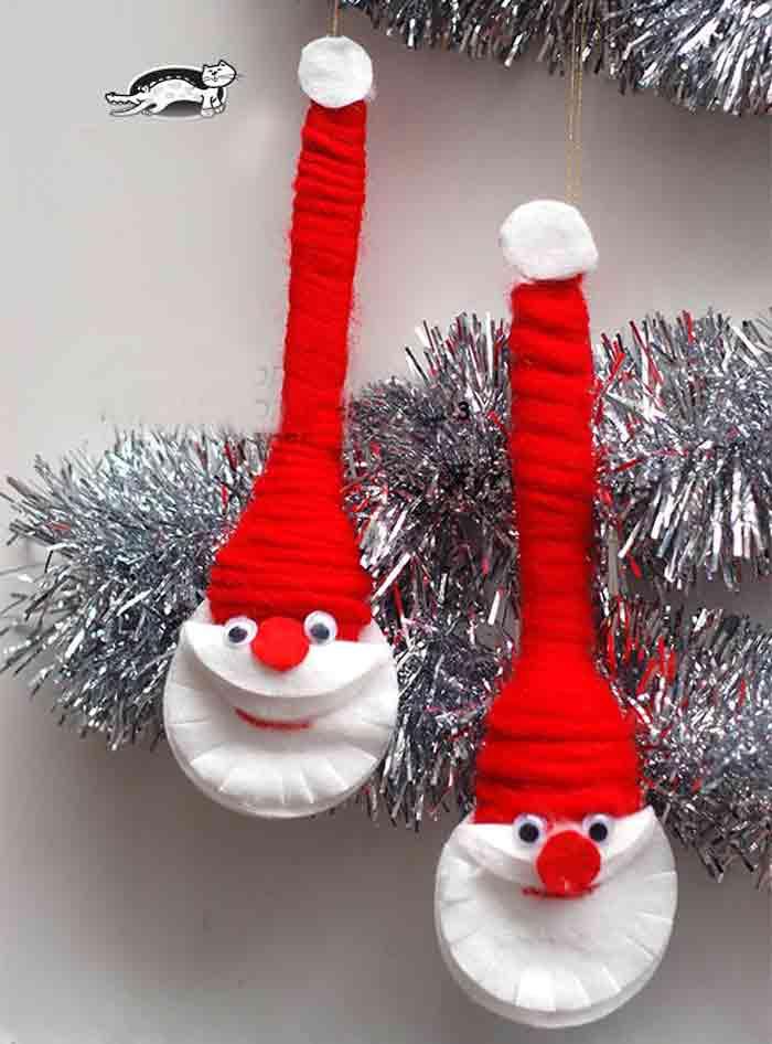 Забавные Деды морозы из ложек