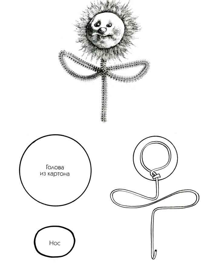 Солнышко цветок, выкройка, мастеркласс