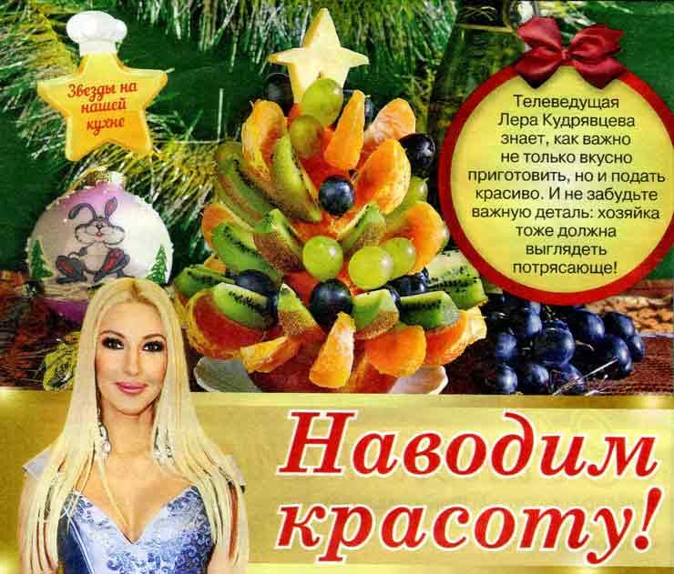 Новогодняя ёлка из фруктов овощей