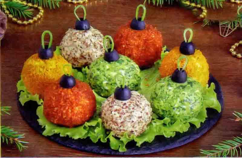 Салат Новогодние Ёлочные шары