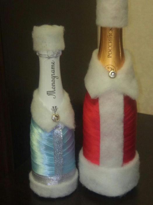 Мастерим Новогодние бутылки:)