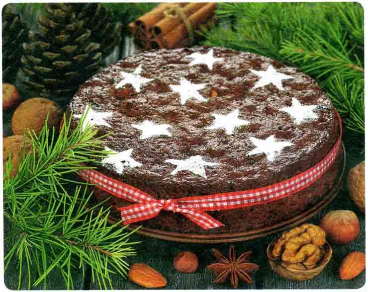 Новогодний Ореховый кекс
