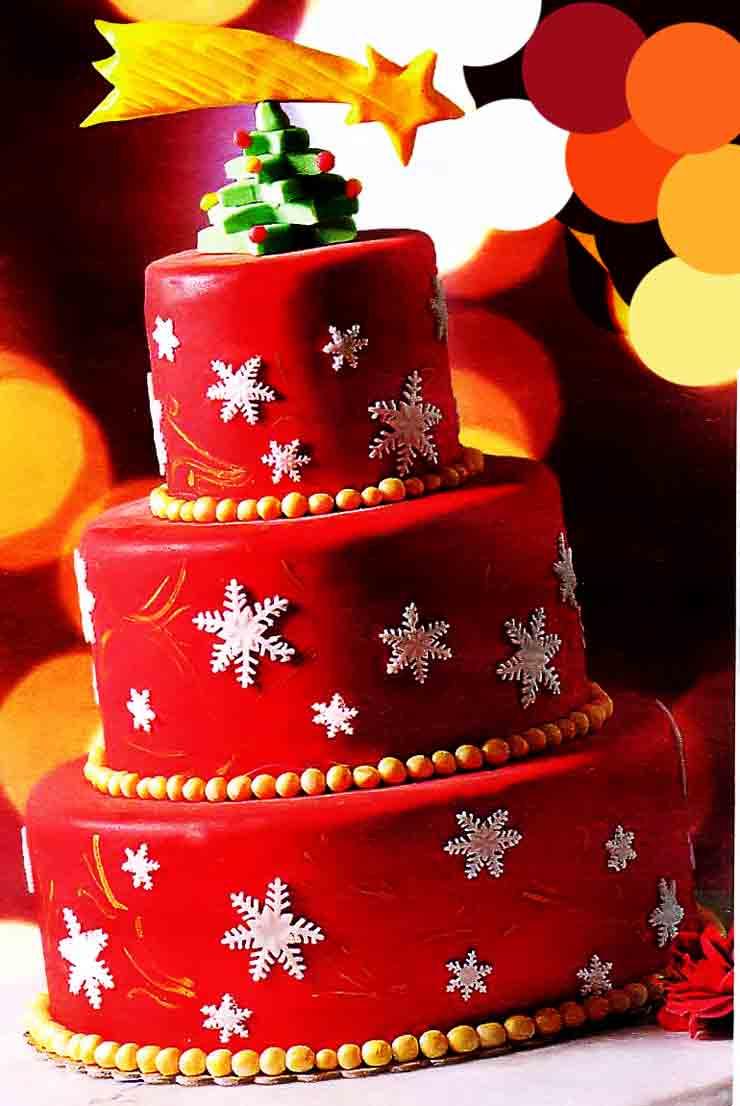 Новогодний торт Снежная фантазия