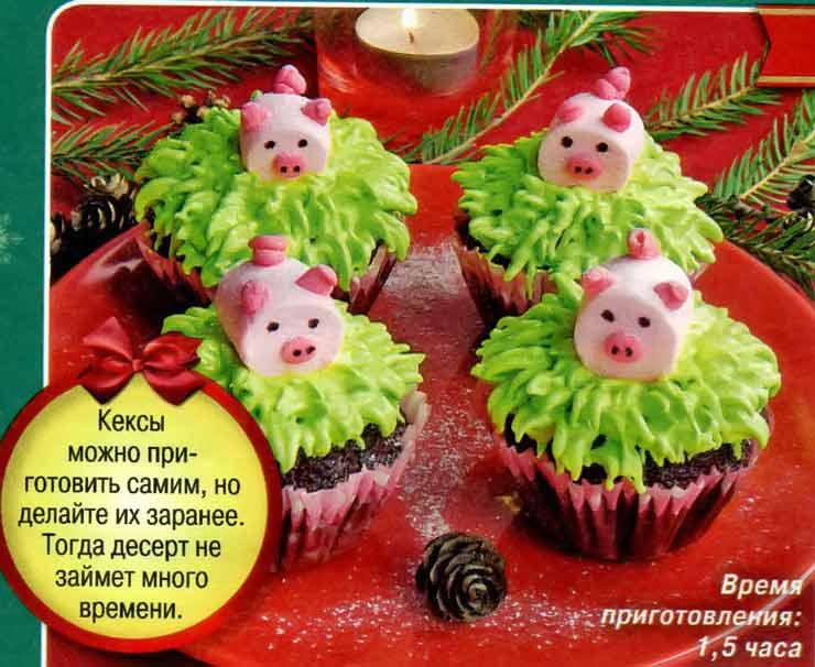 Новогодние кексы Мисс Пигги