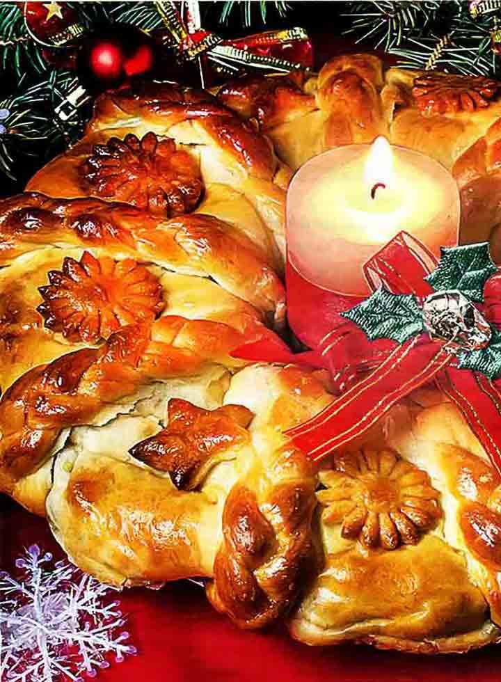 Пирог Новогодний венок, сытный