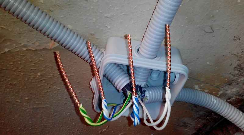 провода, электричество, скрутка